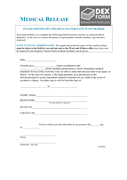 Work and witness medical release form page 1 preview