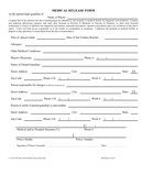 Soccer player medical release form page 1 preview