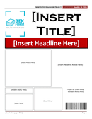 Newspaper article template page 1 preview