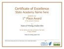 Certificate of Excellence page 1 preview