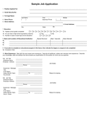 Sample job application form page 1 preview