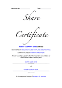 Certificate template page 1 preview