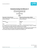 Commissioning certificate template page 1 preview