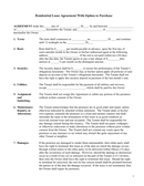 Residential Lease Agreement With Option to Purchase page 1 preview