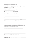 Parent/ guardian/ carer consent form page 1 preview