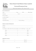 Parental consent and liability release form page 1 preview