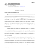 Power of attorney form (Texas) page 1 preview