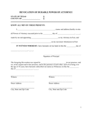 Revocation of durable power of attorney (texas) page 1 preview