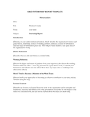 Grad internship report template page 1 preview