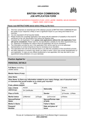 Job application form (GB) page 1 preview