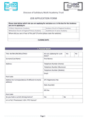 Church job application form page 1 preview