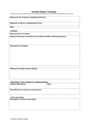 Sports incident report template page 1 preview