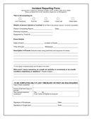 Incident reporting form page 1 preview