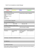 Information Security Incident Form page 2 preview