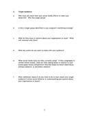 Social media strategy worksheet page 2 preview