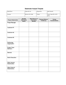 Stakeholder analysis template page 2 preview