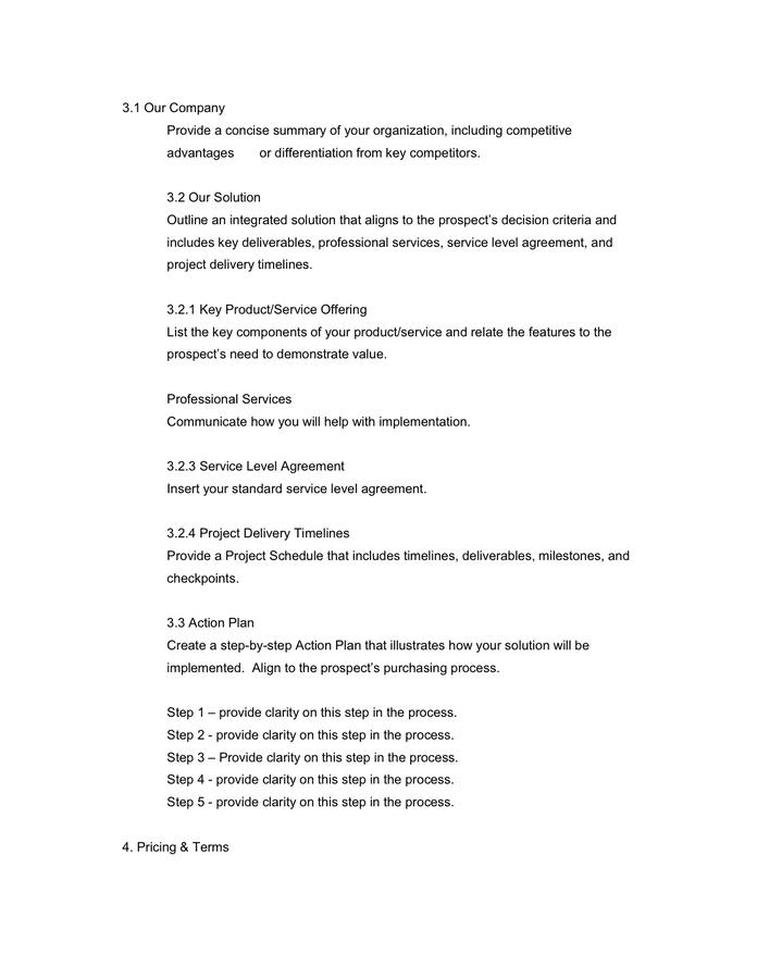 Sales Proposal Template Trattorialeondoro
