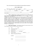 Day care lease form page 1 preview