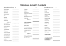 Personal budget planner page 1 preview