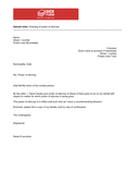 Sample letter granting of power of attorney page 1 preview