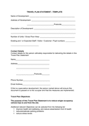 Travel plan statement template page 1 preview