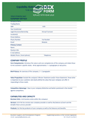 Capability statement template page 1 preview