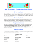 Classroom Newsletter page 1 preview