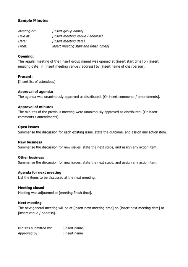 Minutes Of Meeting Format Pdf from static.dexform.com