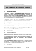 Staff resignation and termination procedure page 1 preview