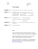 Acting resume template page 1 preview