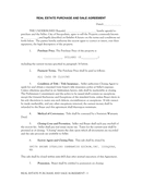 Real estate purchase and sale agreement page 1 preview