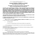 General durable power of attorney short form (New York) page 1 preview