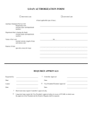 Loan authorization form page 1 preview
