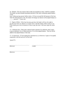 Consumer loan agreement page 2 preview