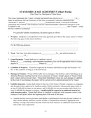 Simple lease agreement page 1 preview