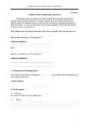 Sample contract employment agreement page 1 preview