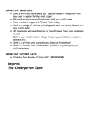 Kindergarten Newsletter page 2 preview