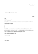Landlord complaint letter template page 1 preview