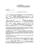 Affidavit for deed in lieu of foreclosure page 1 preview