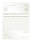 Sales receipt page 1 preview